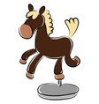 small horse souvenir on white background vector image
