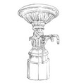 street drinking fountain vector image