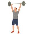 strong bodybuilder sportsman lifting heavyweight vector image