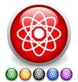 symbolic molecule atom symbol icon for chemistry vector image vector image