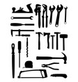 tools silhouette vector image