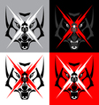 Tribal Wolf Emblem Tattoo for Big Motorcycle Biker vector image