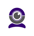 video web cam chat camera icon webcam vector image