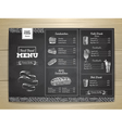 Vintage chalk drawing fast food menu Sandwich vector image