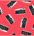 vintage colorful photo cameras seamless pattern vector image vector image