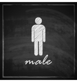 vintage with male sign on blackboard background vector image vector image