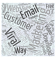 Viral Marketing Trumps Email Deliverability Word vector image vector image