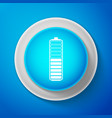 white battery charge level indicator icon isolated vector image vector image