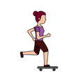 woman skateboarding icon image vector image vector image