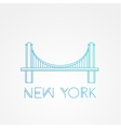 World famous Brooklyn Bridge vector image vector image