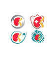 world kidney day template set vector image