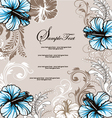 Wedding card with floral background vector image
