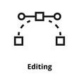 editing thin line icon vector image