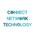 template logo for global network technology and vector image
