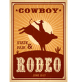 Advertisement Rodeo Poster vector image
