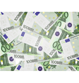 100 Euro bills background vector image