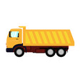 a cartoon yellow truck vector image vector image
