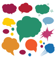 a set of comic bubbles and elements vector image vector image