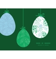 abstract blue and green leaves hanging vector image vector image