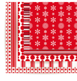 Abstract set of Christmas seamless backgrounds vector image vector image