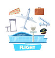 airport and flight service icon for travel design vector image vector image