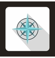 Ancient compass icon in flat style vector image vector image