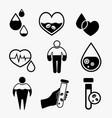 anemia and hemophilia icon vector image