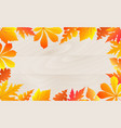 autumn poster with falling leaves on a wooden vector image