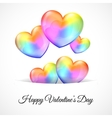Background with Multicolor Heart Balloons vector image vector image