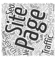 Basic SEO Wisdom text background wordcloud concept vector image vector image