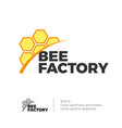 bee honey logo vector image vector image