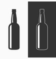 beer bottle icon background vector image vector image