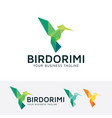 bird origami logo design vector image