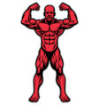 bodybuilder athlete showing his muscle body vector image vector image