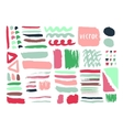 Bright hand drawn textures and brushes with ink vector image vector image