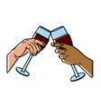 champagne cups toast vector image vector image