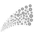 clock wheel source stream vector image vector image