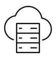cloud server line icon minimal 96x96 pictogram vector image vector image