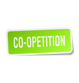 co-opetition square sticker on white vector image vector image