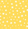 cute yellow stars seamless pattern nursery vector image