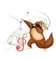dancing four-legged animal