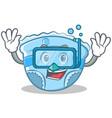 diving baby diaper character cartoon vector image vector image