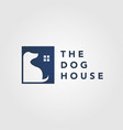 dog pet house home logo icon negative space vector image vector image