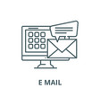 e mail line icon linear concept outline vector image vector image