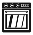 electric oven icon simple style vector image vector image