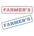 farmer s textile stamps vector image vector image