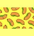fast food pattern seamless stroke dog for vector image vector image