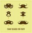 Funny beard masks vector image vector image