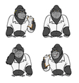 gorilla lab suit collection vector image vector image