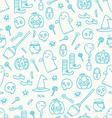 Halloween doodle pattern vector image